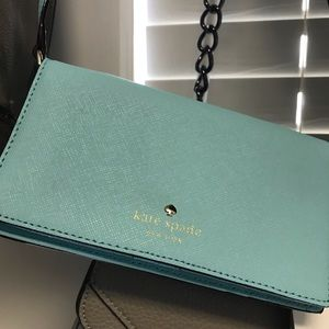 Kate Spade clutch (Turquoise) NWT